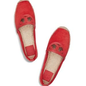 Tory Burch Sidney Espadrille Red Canyon Size 6 NEW